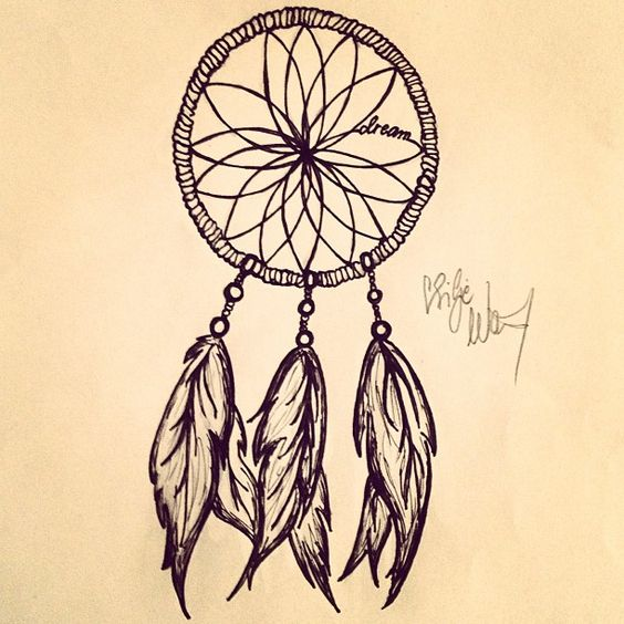 Gallery For gt Dreamcatcher Drawing Tumblr Easy