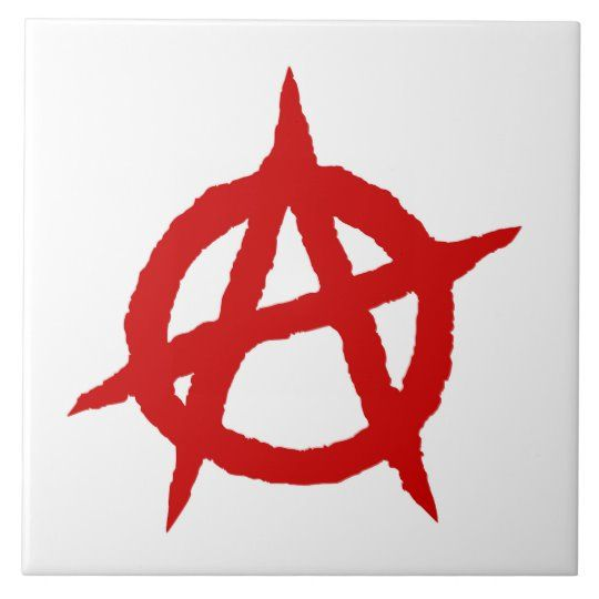 Anarchy Symbol Red Punk Music Culture Sign Chaos P Tile Zazzle Com Anarchy Symbol Punk Music Anarchy