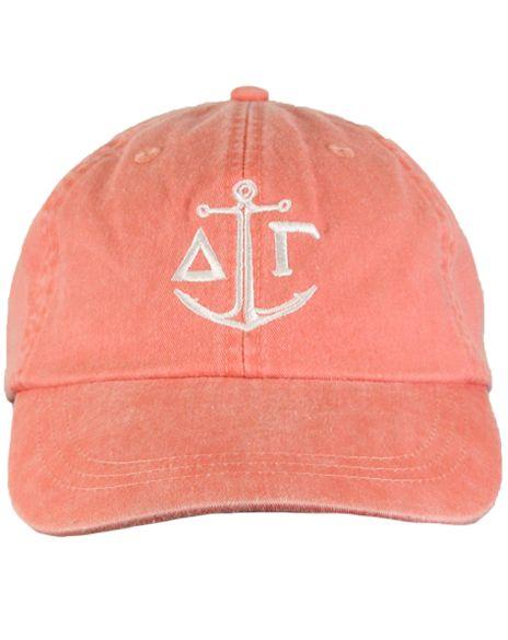 Delta Gamma Anchor Baseball Hat by Adam Block Design | Custom Greek Apparel & Sorority Clothes | www.adamblockdesign.com