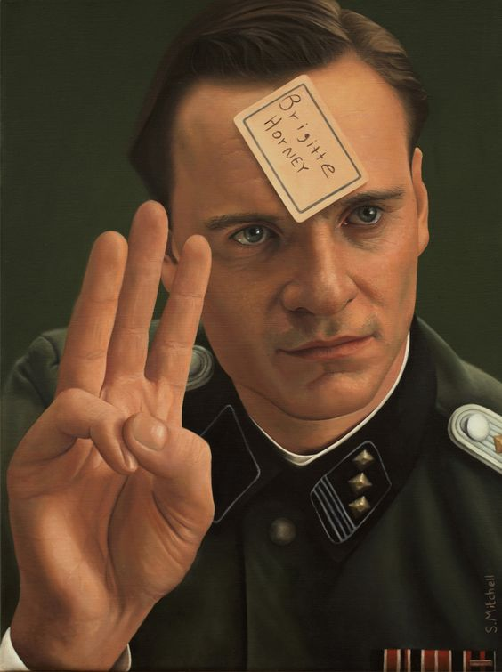 Oil painting - Michael Fassbender in Inglourious Basterds ...