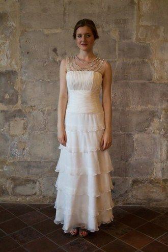 Robe de mariée vintage année 20/ robe de mariée simple/ vintage ...