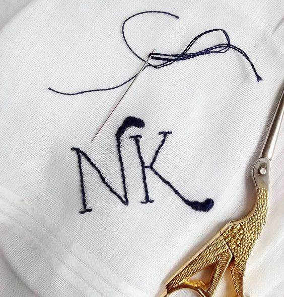 Finishing this monogrammed handkerchief for a wedding. It so amazing to know my work is going to take part of such a special moment!