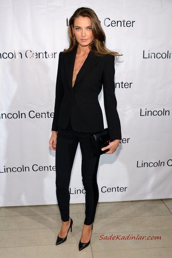 Bayan Takim Elbise Kombinleri Siyah Pantolon Uzun Ceket Topuklu Ayakkabi El Cantasi Moda Fashion In 2020 Womens Power Suit Blazer Outfits For Women Power Dressing