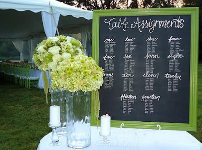 Table arrangements. Love this display!