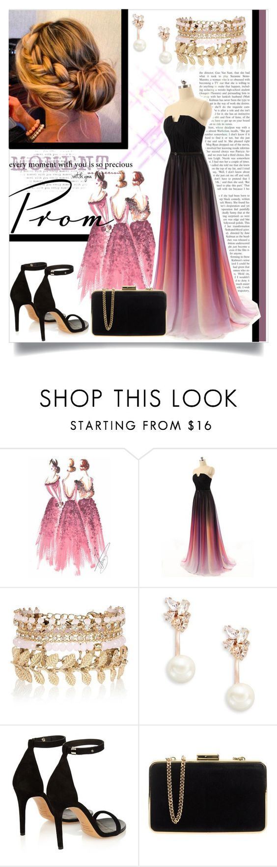 """""""Prom"""" by imajaa ❤ liked on Polyvore featuring River Island, Kate Spade, Isabel Marant, MICHAEL Michael Kors and promdoover"""