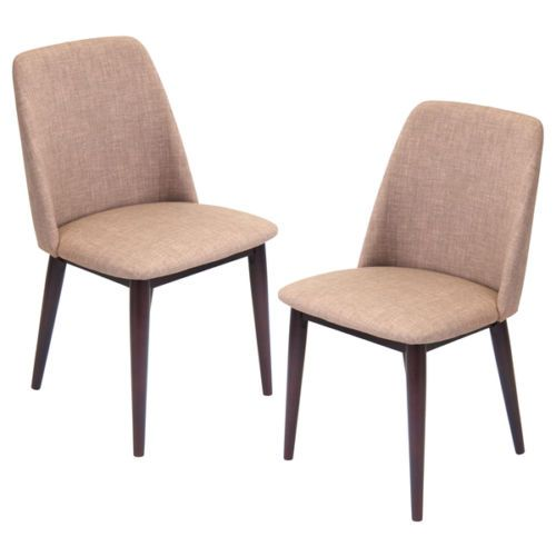 Brown modern classic retro mid century style dining accent for Modern upholstered dining chairs