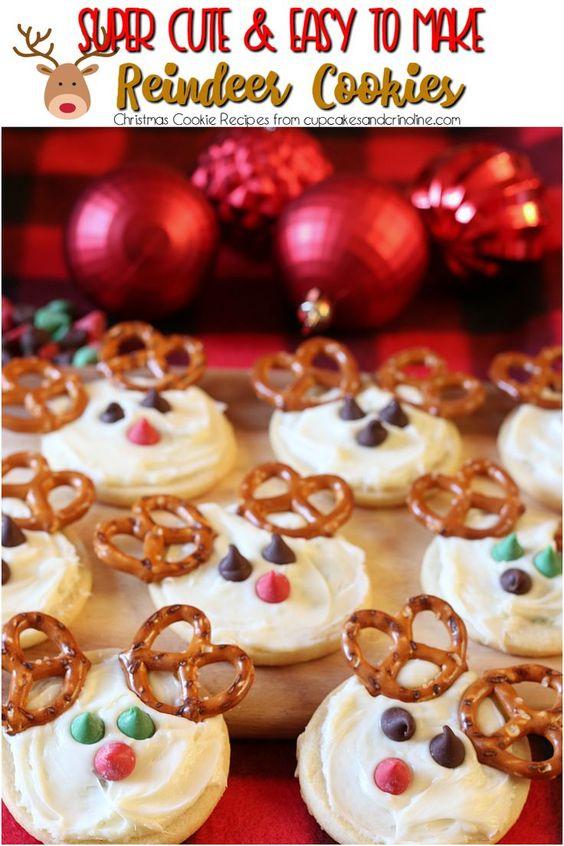 Cute Reindeer Cookies Recipe Reindeer Cookie Recipes