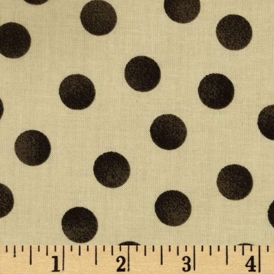 Inkwell Polka Dots Cream/Black