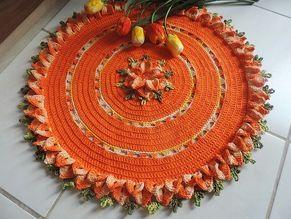 Receitas Círculo - Tapete Redondo Flor Abélia