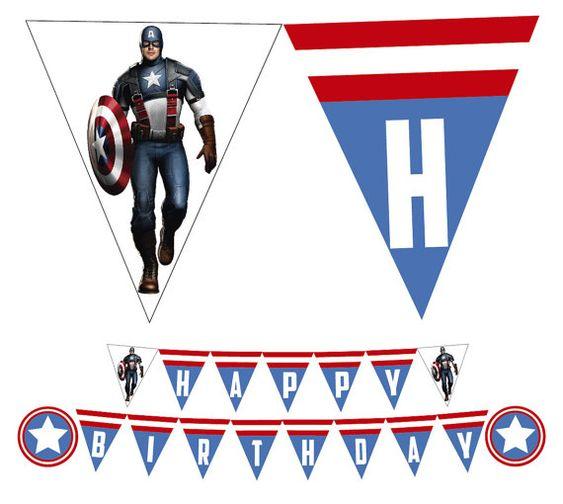 Pin On Captain America Birthday