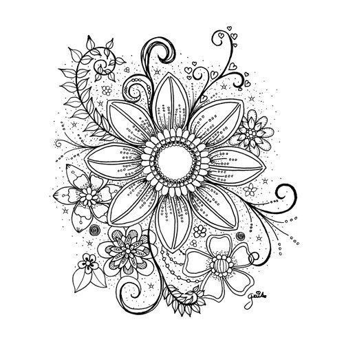 Ich Biete Einen Rabatt An Mandala Tattoo Design Flower Art Drawing Heart Coloring Pages