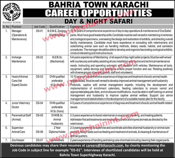 The updated prices of Bahria Town Karachi Bahria Town Karachi - animal care assistant sample resume