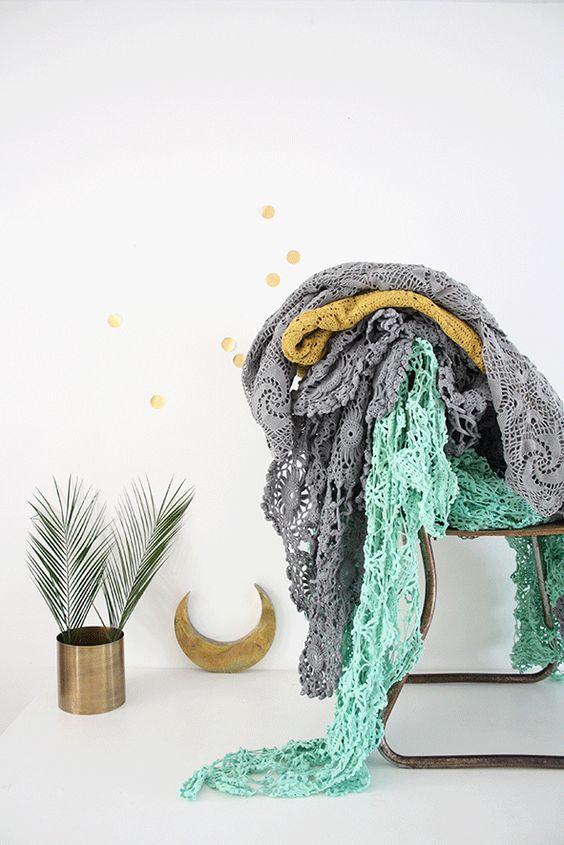 Couvre lit en crochet , €75.00 by LES PETITS BOHEMES