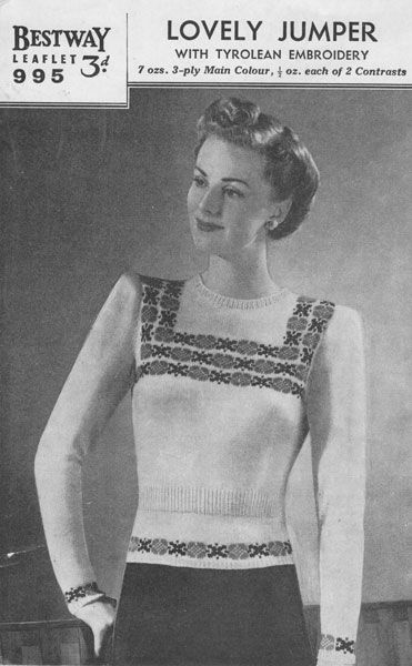 Vintage Ladies knitting patterns available from The Retro Knitting Company