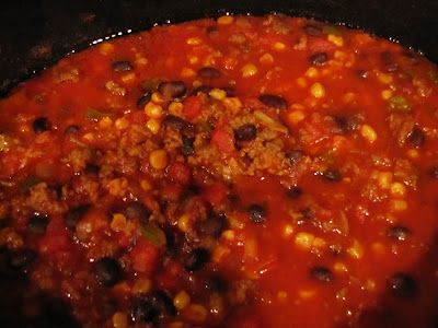 Rumbly In My Tumbly-black bean and sausage chili