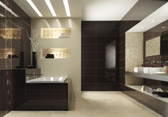 Bodenfliese / Aus Keramik / Für Badezimmer / Einfarbig AISTHESIS: CACAO  Panaria Ceramica | Badezimmer | Pinterest | Bathroom Designs And Interiors
