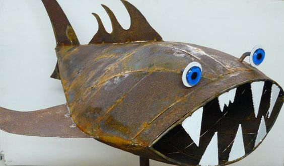 LOOOOOVE this! Terrible Tilapia  Found object welded metal by SwimminwitdaFishes, $695.00