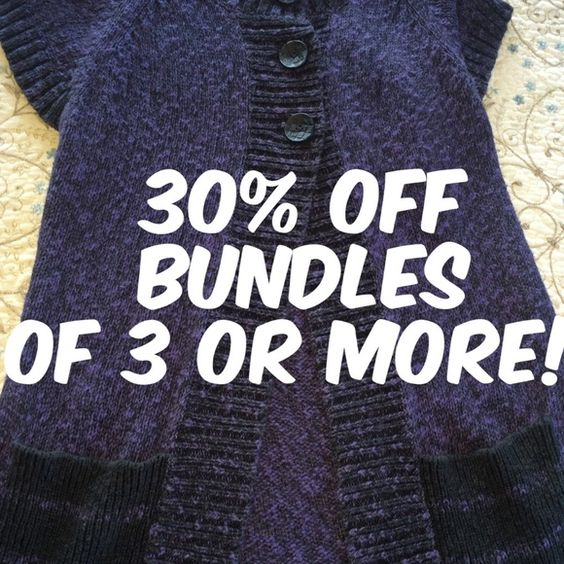 30% off bundles of 3 or more through Sunday! 30% off bundles of 3 or more through Sunday! Other