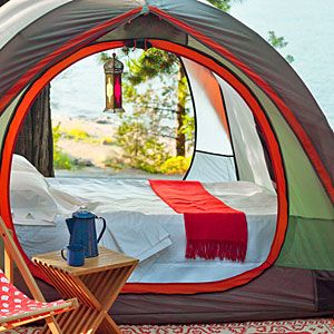 Glamp your camp for a more comfortable night outdoors.