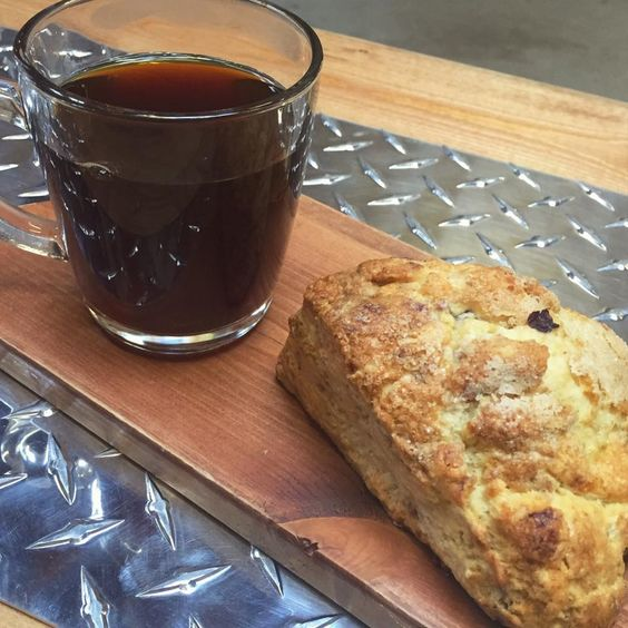 Cold Brew and Scone from Second Crack