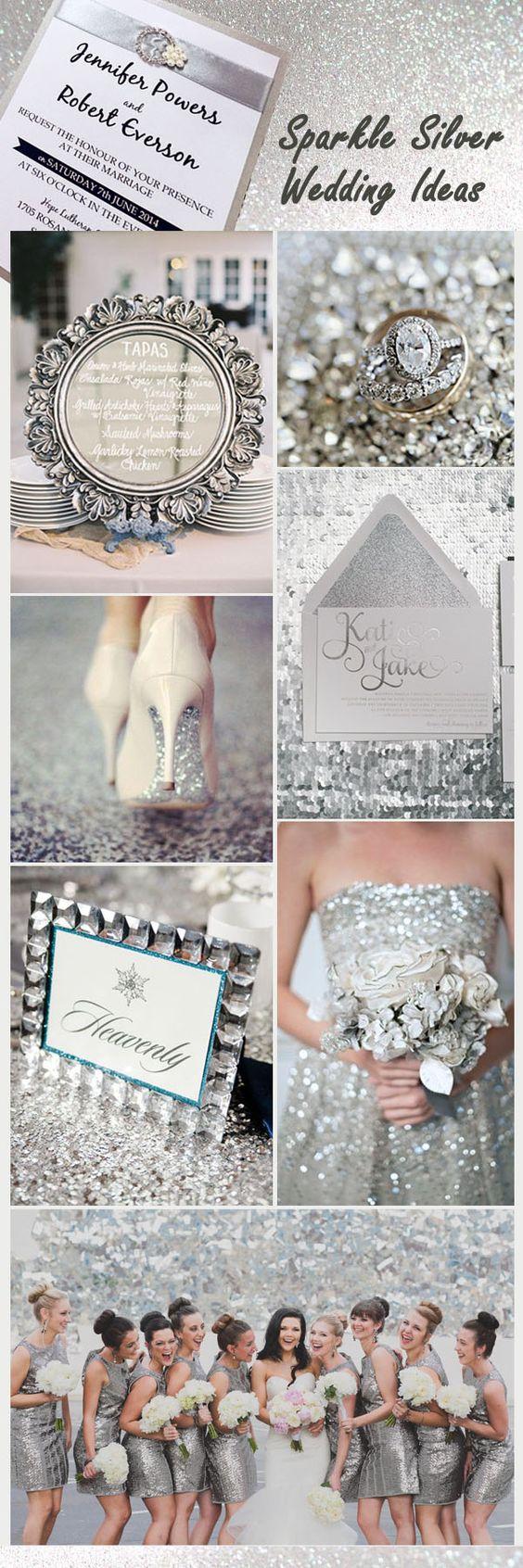 sparkle silver sequin sparkle wedding ideas and invitations