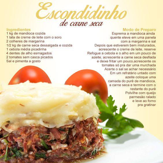 Aprenda a fazer um incrível e delicioso Escondidinho de Carne Seca. #escondidinho #comida #receita #carne #carneseca