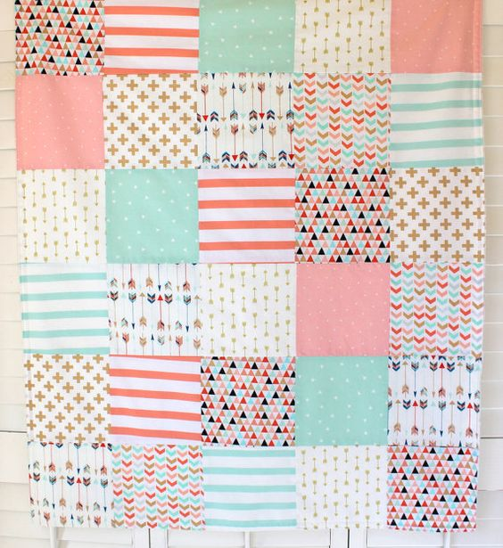 Couverture de bébé fille Minky Blanket corail par theredpistachio