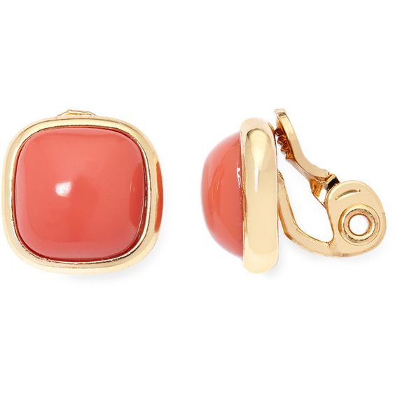 Monet Pink Button Clip Earrings (79 RON) ❤ liked on Polyvore featuring jewelry, earrings, clip back earrings, pink jewelry, monet jewellery, clip-on earrings and pink earrings: