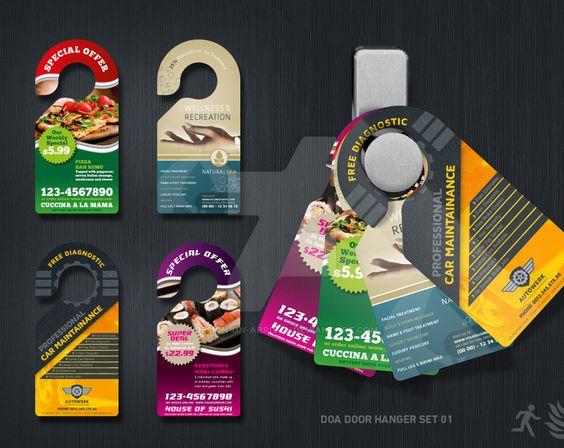 doorhangers #DirectMailMarketing #DirectMail #mail #Graphics - door hanger design template