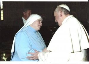 Mother Elizabeth Marie and Pope Francis