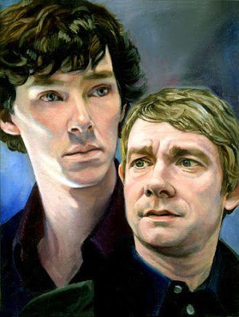 Fan art of Sherlock and Watson.  Source: http://artconserv.livejournal.com/11895.html  via   Google+