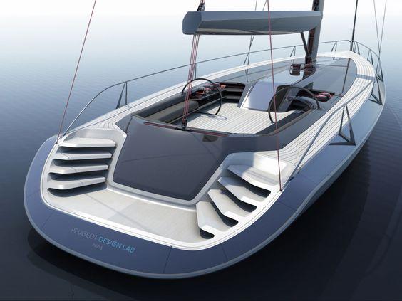 Peugeot Concept Sailboat - Car Body Design