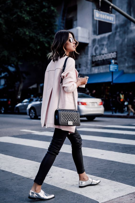 VivaLuxury - Fashion Blog by Annabelle Fleur: LIFE'S LITTLE LUXURIES - DUFFY NY cardigan | J BRAND leather pants | CHANEL Boy flap bag in perforated leather | LOEFFLEL RANDALL Rosa loafers | DYLANLEX Liam bracelet, Ari ring, Rio ring & Syd ring | DIOR So Real 48mm sunglasses November 9, 2015: