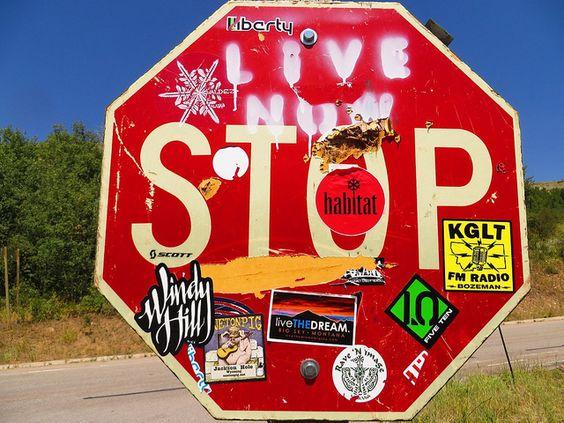 Canyon stop sign