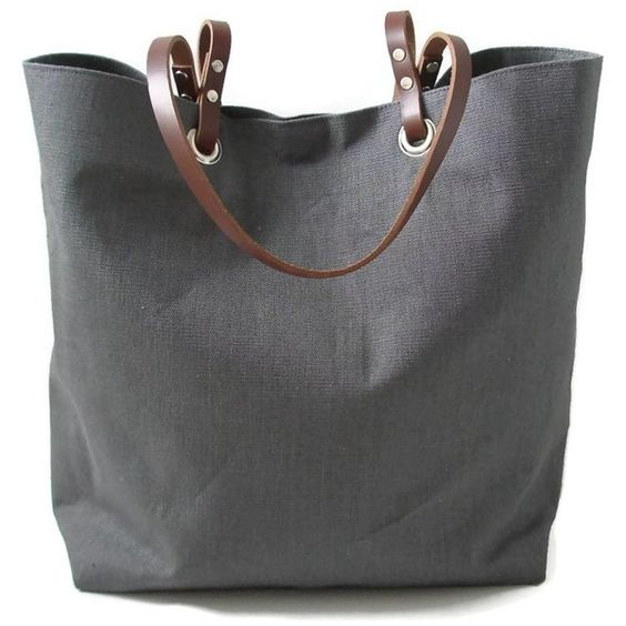 Independent Reign Linen and Leather Beach Bag (180 CAD) ❤ liked ...