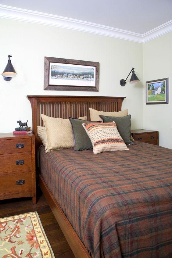 Stickley bedroom with ralph lauren bedding and visual for Visual comfort ralph lauren