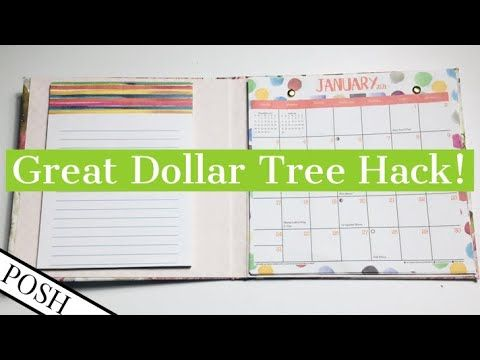 2021 Calendar Hack Diy 2021 Calendar Portfolio Dollar Tree 2021 Calendar Project Diy Paper Craft Youtube In 2020 Paper Crafts Diy Diy Paper 2021 Calendar