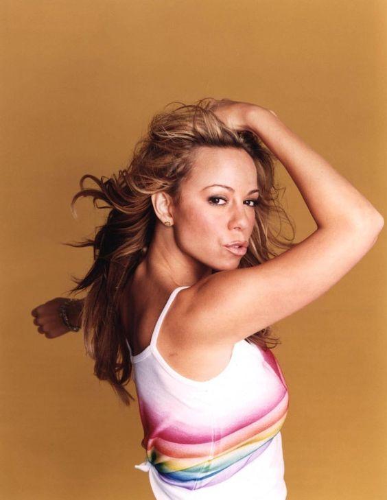 Mariah Carey's promotional photos for her album Rainbow.
