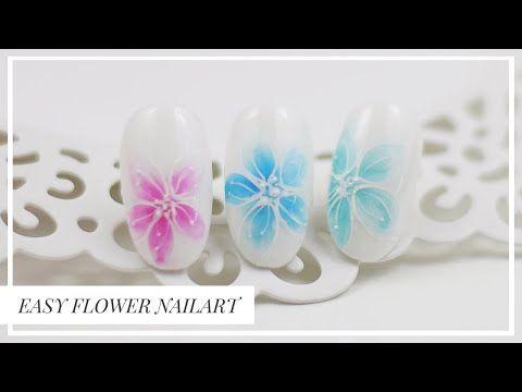Proste Kwiaty Na Paznokciach Sharm Effect Nailart Youtube Nail Art Flowers Nails