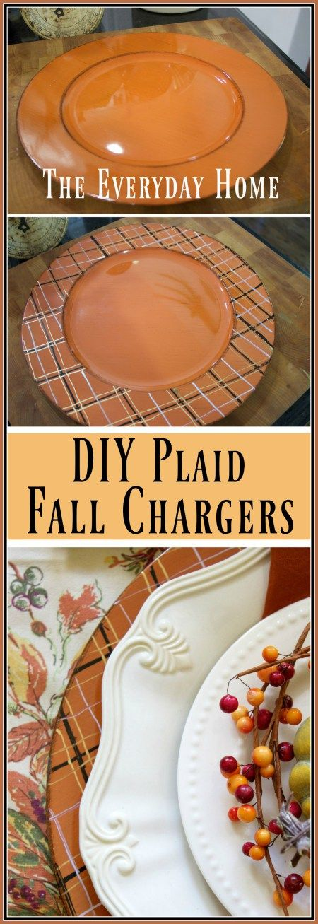 DIY Plaid Fall Chargers | The Everyday Home | www.everydayhomeblog.com: