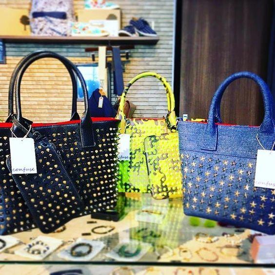 New bag stock in!! 毎度即完しちゃうコンフューズのバッグ入荷しました♩ #bag #totebag #confuse #studs #star…