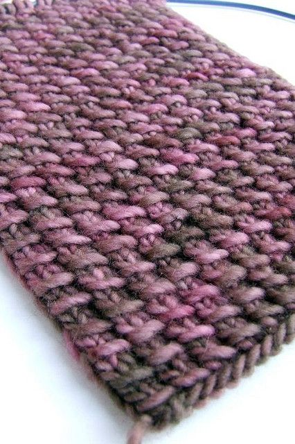 Knitting Pattern For Slip Through Scarf : Fire to Earth: Brown Berries Scarf Yarn: Malabrigo Worsted Needles: US 8 Patt...
