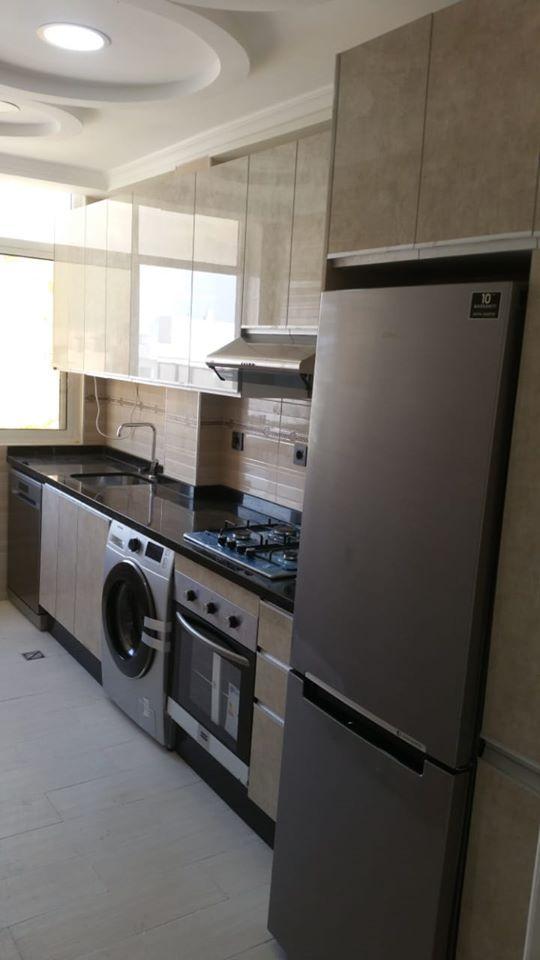 Cuisine Equipee Moderne Avec Electromenager Home Appliances Kitchen Cabinets Kitchen