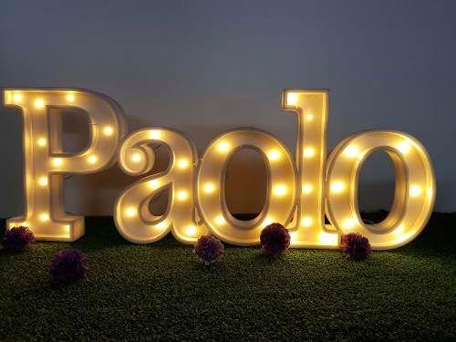 Letras Nombres Carteles Luminosos Luz Led Polifan Candy Bar 550 00 En Mercado Libre Neon Signs Candy Bar Neon