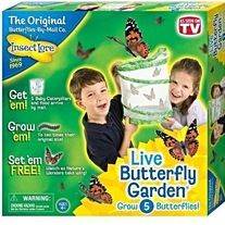 Brand: Insect Lore MPN: 01010 UPC: 735569022216   Insect Lore Live Butterfly Garden    Experience nature up close with the Live Butterfly Garden   from Insect Lore. This enthralling educational kit gives kids   the opportunity to observe butterflies through every stage   of their li...