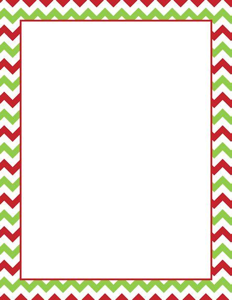 Printable Christmas chevron border. Free GIF, JPG, PDF, and PNG ...