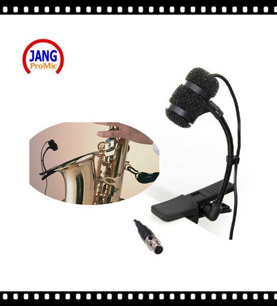Barato Profissional Saxofone Instrumento Musical Microfone Condensador…