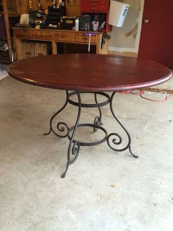 Wrought iron dining table wrought iron affair for Ornamental centrepiece for a dining table
