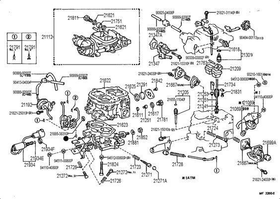 Carburetor Parts 4runner Toyota 4runner Low Deck
