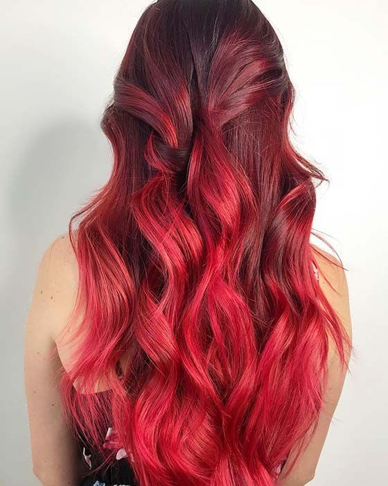 23 Red And Black Hair Color Ideas For Bold Women Page 2 Of 2 Stayglam Red Ombre Hair Hair Color For Black Hair Red Hair Color